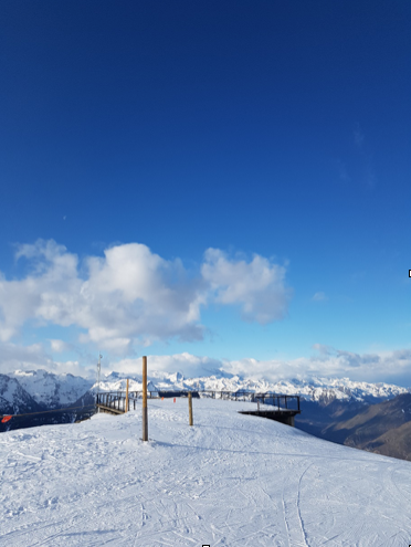 Mirador viewpoint in Baqueira. It can be found at the top of the Mirador chairlift at 2500m