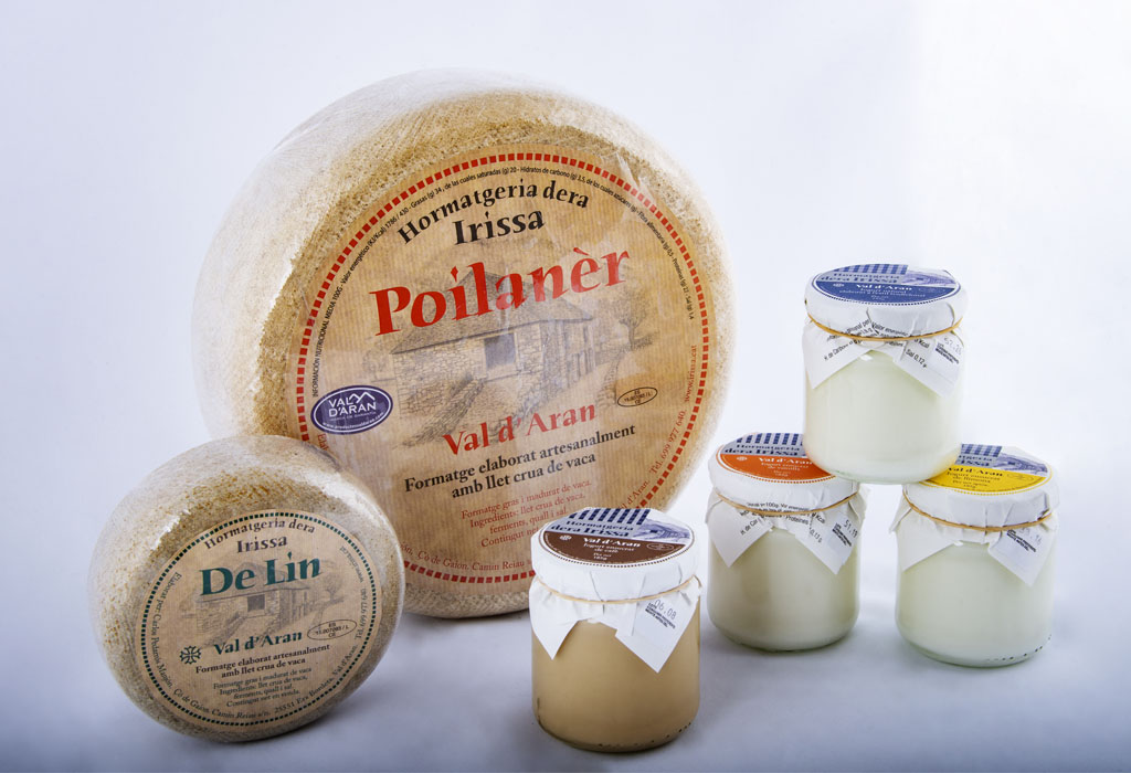 Delicious local produce cheese and yogurt - Baqueira (Pyrenees)